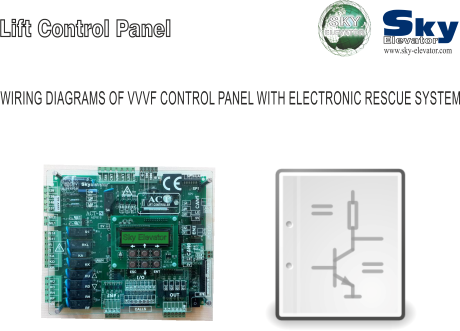wiring diagrams of vvvf control panel with rescue system
